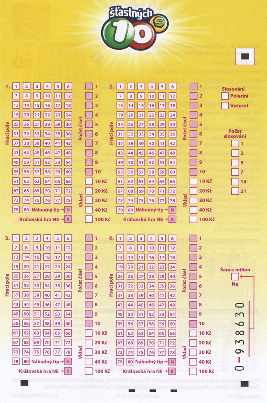 Pravdepodobnosti - tipos, nrodn lotriov spolonos