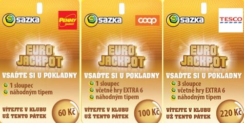 Eurojackpot - kupóny (hrací karty)
